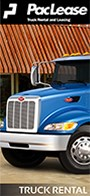 PacLease Peterbilt Truck Rental brochure.